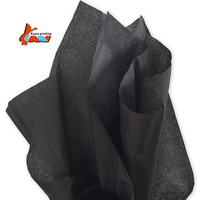 18gsm 50X70cm dyed colored black tissue wrap paper for gift clothing wrapping