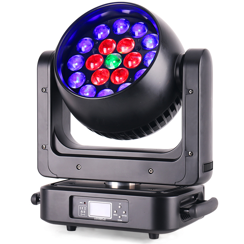 19x20W RGBW 4in1 zoom wash moving head Stage Light Led beam wash moving head zoom