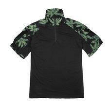 Гавайский стиль открытый короткий рукав рубашка тактическая футболка-TMC3305-BK-XS(Китай)