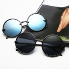 2020 fashion plastic PC round glasses/blk classic unisex sunglasses/sunglasses women