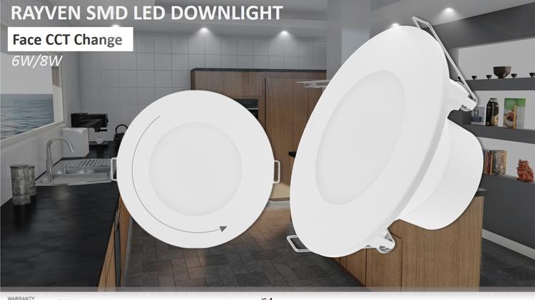 경쟁력있는 가격 라운드 모양 CCT 변경 800lm LED 통 8w 빛