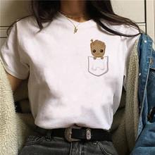 2020 мягкая одежда для девочек с героями мультфильмов, эстетическая одежда Аниме, летняя одежда для женщин, Белый Топ хиппи, летний топ, улична...(China)