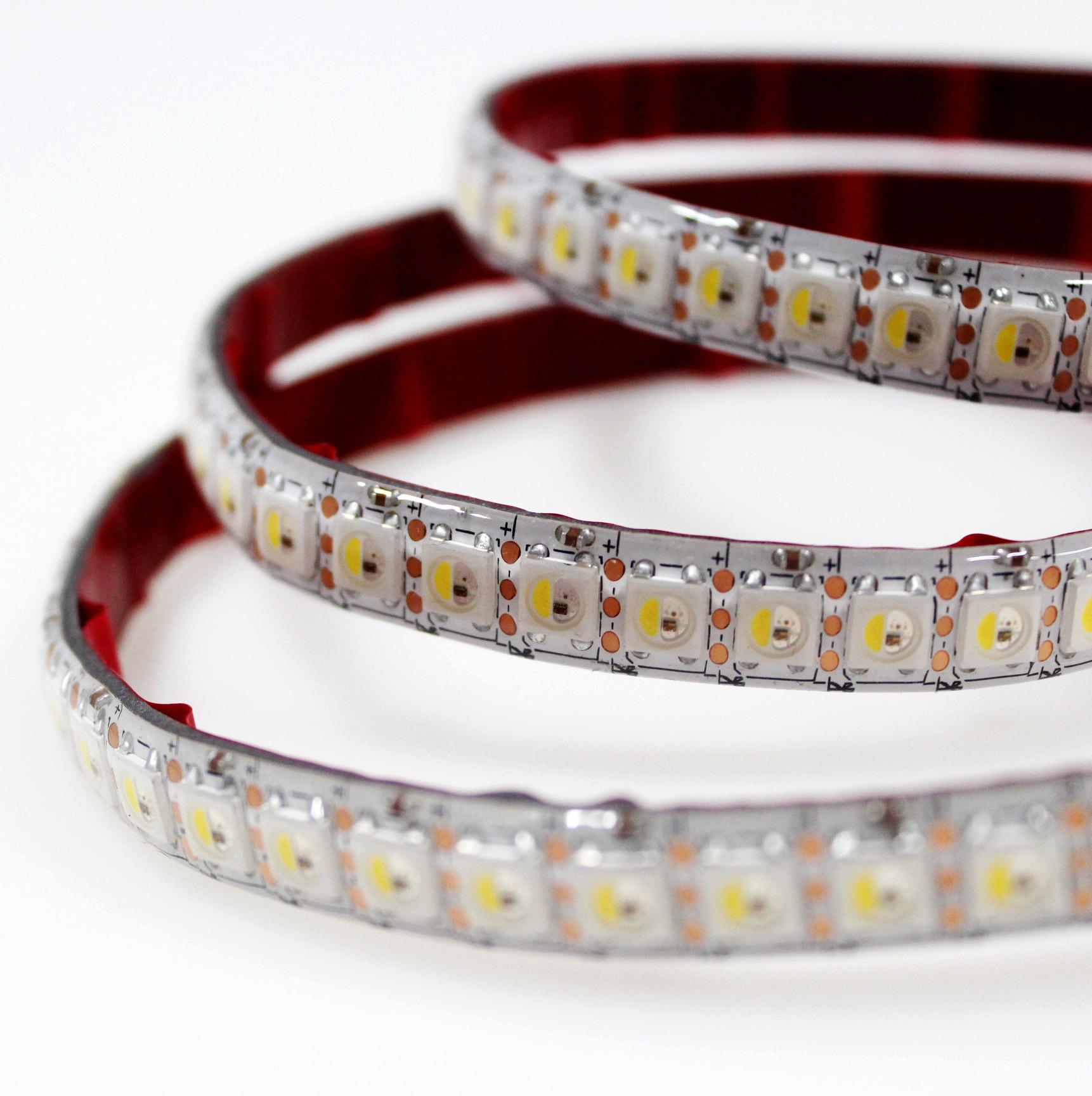 Online retail 144leds sk6812 light individually addressable 5v rgbw led strip