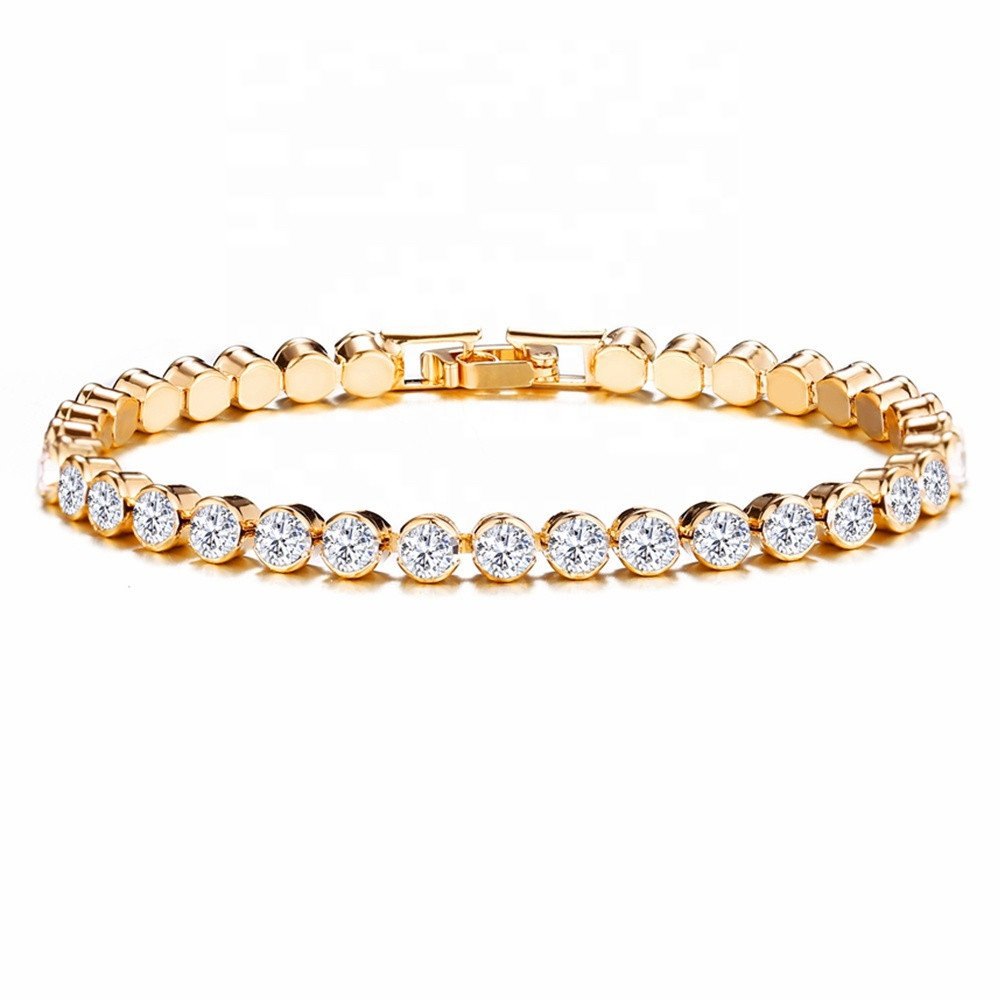 Full <strong>CZ</strong> Crystal Rhinestone Women Fashion <strong>Bracelet</strong> Bling Bling <strong>Tennis</strong> <strong>Bracelet</strong>