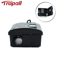 Reusable Plastic Mouse Rodent Control Trap Rat Bait Box Station with Key