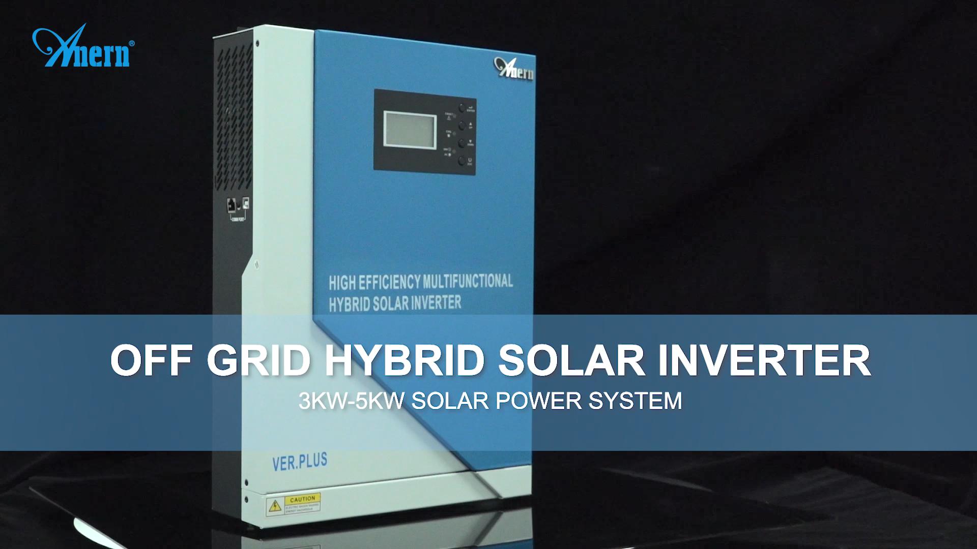 New design 3500W 5000W MPPT hybrid solar inversor