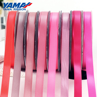 YAMA Double Faced Smooth Silk 22mm Wide Light Satin Pink Red Ribbon For Garments Hat