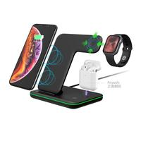 WELUV 2020 New Customize Logo Multifunction Mobile Phone Fast 15W 3 in 1 Wireless Charger