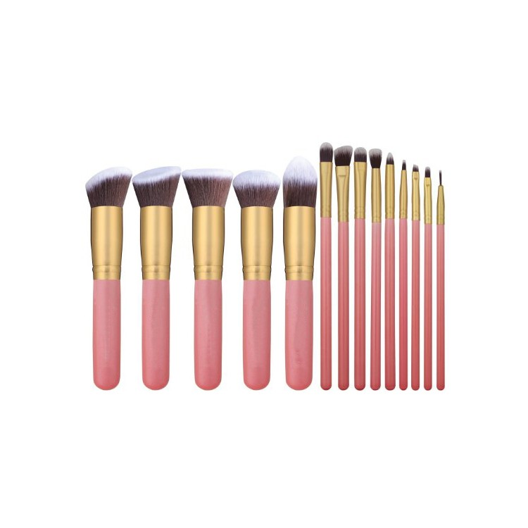 14 pz/set Synthetic Kabuki Makeup Brush Set Cosmetici Fondazione Blending Blush Eyeliner Faccia Powder Brush Spazzola di Trucco Kit
