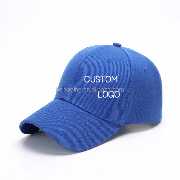 Byleading Fashion Stock Multi-color Custom Logo 5 panel Visor Baseball Cap Hard Hats