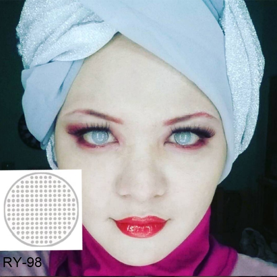 Wholesale cheap yearly colored halloween cosplay crazy contact lenses фото