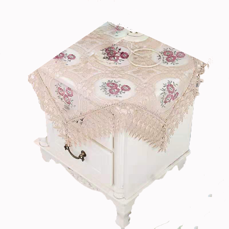 wholesale <strong>vinyl</strong> polyester wedding lace embroidery tablecloths with the organza table cloth