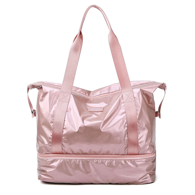 New Arrival Wholesale Women Custom Logo Yoga Gym Sport Bag Travel Duffel Tote Bag with Shoes Compartment to Use Outdoor