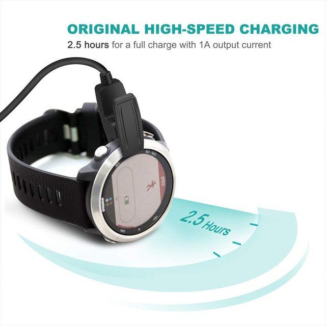 TUSITA Chargeur pour Garmin Forerunner 35 230 235 630 645 Music 735XT,Approach G