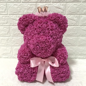 2020 Rose Valentine Gift Teddy Rose Bear Artificial Foam Teddy Bear With Gift Box Flower Rose Bear