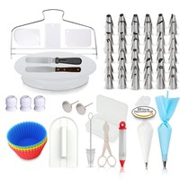 baking accessories cake decorating supplies kit pastry nozzles piping icing tips sets /cake decorating turntable tips tools