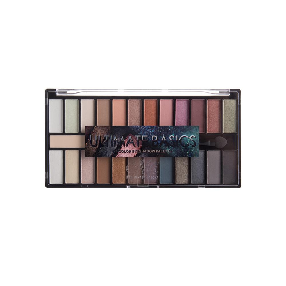 24 farben Schimmern Matt Nude Lidschatten Make-Up Palette Pigmentierte Langlebig Lidschatten Natürliche Augen Kosmetik Mit Pinsel