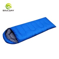 Good quality Outdoor Camping Hollowfibre Double Lightweight winter sleeping bag