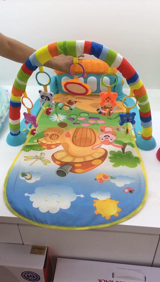 الجملة الوليد الرضع النوم لعب طفل رضيع النشاط الصالة الرياضية الموسيقية لوحة مفاتيح البيانو الزحف اللعب الحصير للطفل