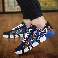 Hot Sale Sneakers Fashion Comfort Casual Shoes Sports Printed Canvas Shoes Men