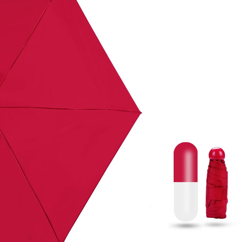 Mini Katlanır Taşınabilir cep su püskürtme kapsül şemsiye