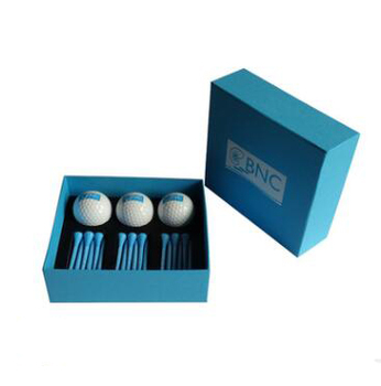 customized logo golf ball and golf tee gift set