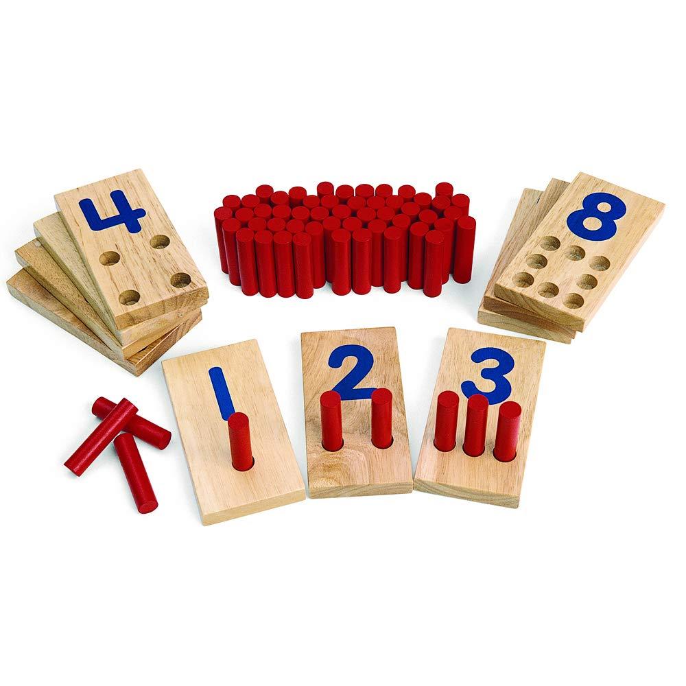 Sederhana Montessori Menghitung Permainan Latihan Nomor Pengakuan Keterampilan Motorik Peg Nomor Papan