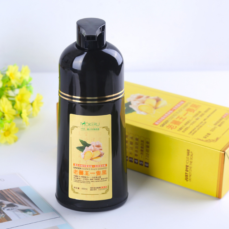 Ready To Ship Private label black hair care Natural hair darkening shampoo color hair dye shampoo for women and men