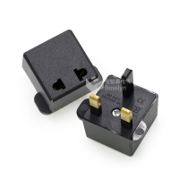 CE certification Euro To UK 3 Pin Travel Plug Adapter Converter Plug