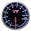 "2 1/16"" High quality white / amber red LED display smoked lens black face oil pressure meter gauge for car"