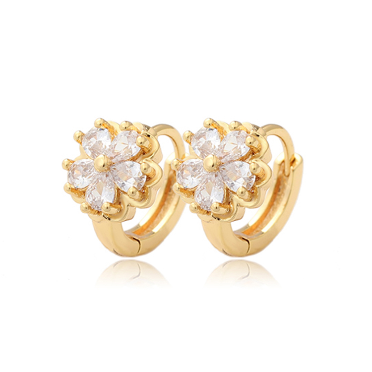 fancy <strong>gold</strong> <strong>flower</strong> <strong>earring</strong> for woman party design