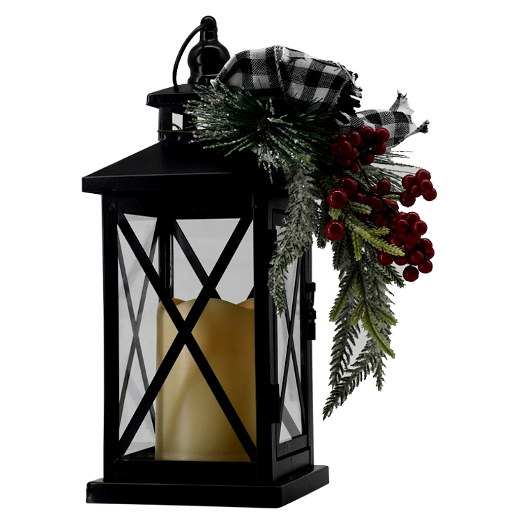 New product ideas 2020 metal indoor outdoor christmas hanging lanterns with candles