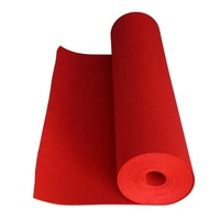 red color 100% polyester felt fabric 1mm 180gsm 1.08mx80m in stock