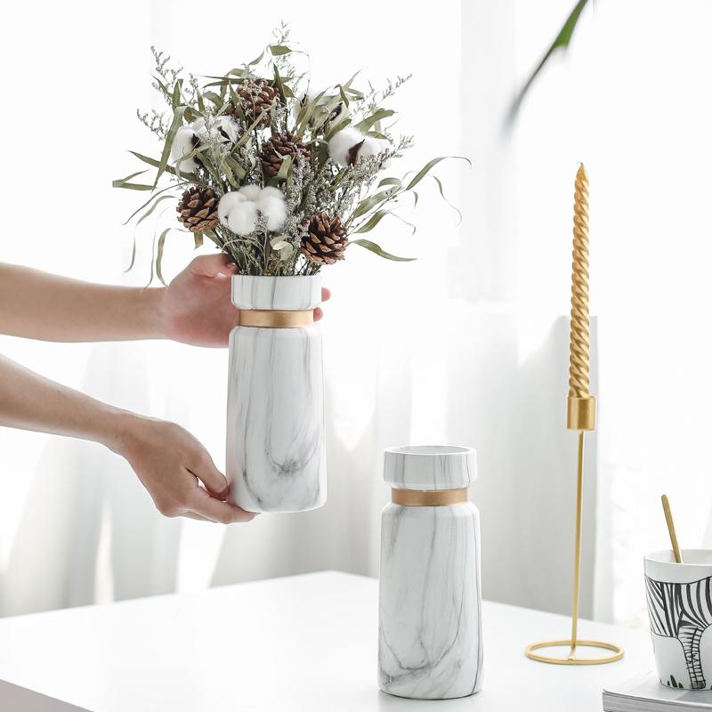 2020 Новый мраморный керамические фарфоровые вазы для цветов для домашнего декора