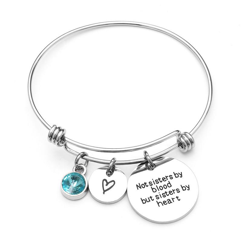 Colgante brazalete pulsera mujeres Femme ajustable, logotipo de grabado joyería de alambre de 316L de acero inoxidable de acero de encantos pulsera