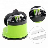 China kitchen promotional manual mini professional knife sharpener with suction pad