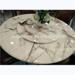 Round lilac marble dining table top, 8 seater marble dining table