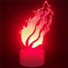Сказочный хвост Дракон пламя 3d светильник светодиодный ночной Светильник s цвет Чанг светодиодный светильник для детской спальни Декор лам...(Китай)