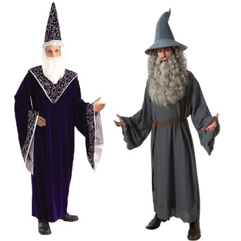 Gandalf Costume Adult Lord of The Rings Fancy Dress Halloween Costume