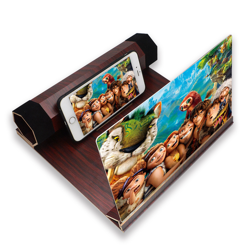 Foldable holder 3D Stereoscopic screen magnifier for cell phone Mobile phone stents Hd video magnifier The projector