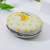 Handbag portable small pocket makeup mirror leather folding cosmetic mirror custom compact mirrors epoxy with logo