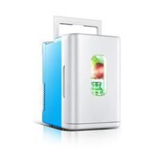 Мини-холодильник 10л для домашнего использования, мини-холодильник, подогреватель, двойной холодильник, контроль температуры, 12 В/220 В, для об...(Китай)