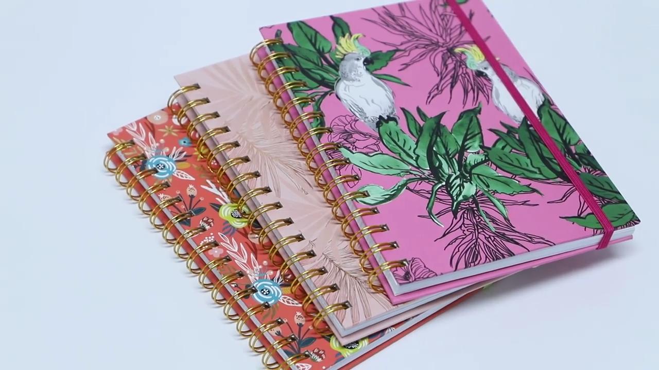도매 고품질 나선형 노트북 맞춤형, 여성 종이 쓰기 저널 노트북