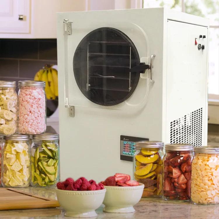 Comercial secadora de vacío vegetal de la fruta de té de flor de liofilizador deshidratador de goji berry