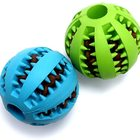 Dog Food Toy Rubber Chew Toy Petstar Natural Safe Non-Toxic Pet IQ Rubber Dog Food Chew Toy Ball