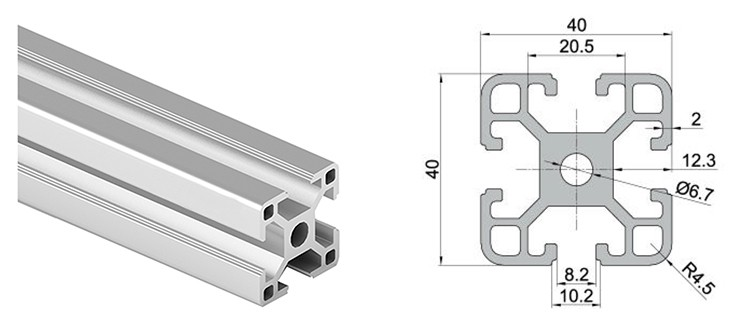 1515 2020 3030 4040 4545 Aluminum Extrusion Profile Silver/Black Color Anodized European Standard T Slot Framing