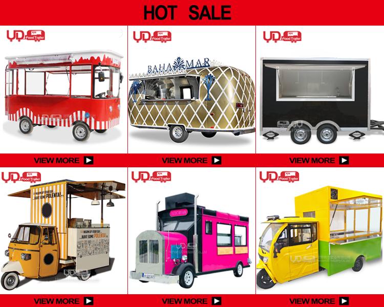 ตู้ขายอาหารแบบเร็ว,รถเข็นขายอาหารเคลื่อนที่สำหรับรถบรรทุกไอศครีมตู้ขายอาหารสุนัขร้อน