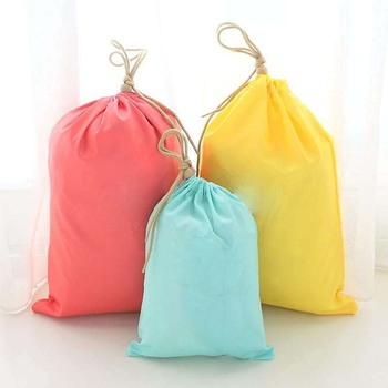 Custom Color cheap full colors Non-woven Drawstring Bag/ Backpack canvas Bundle pocket