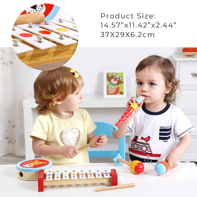 Creative Building House Blocks wooden toy music kids musical instrument set