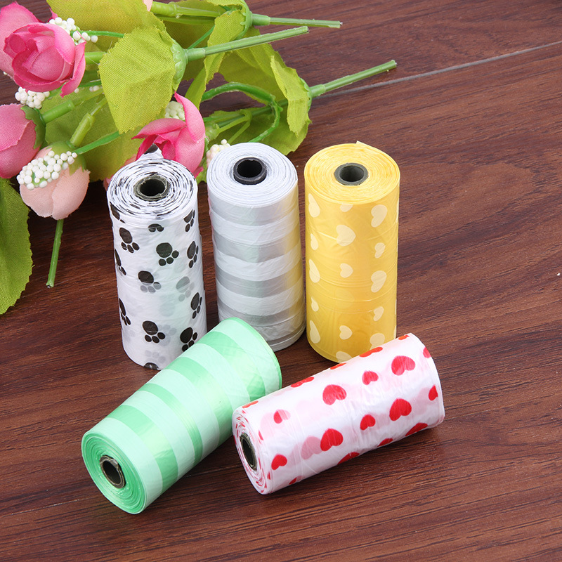 Eco Friendly Compostable Custom Printed Biodegradable Doggie Garbage Trash Pet Dog Waste Poop Bag For Dog